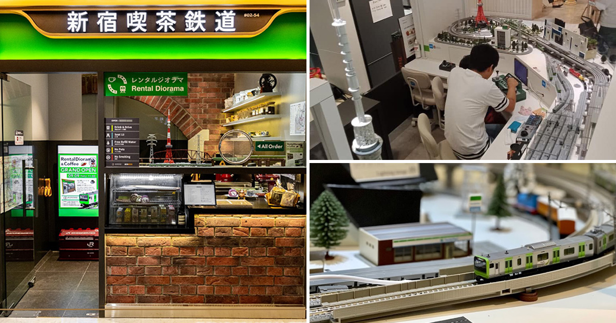 Japanese Railway-themed Cafe in 111 Somerset has drip coffee, cakes & moving miniature trains on tracks