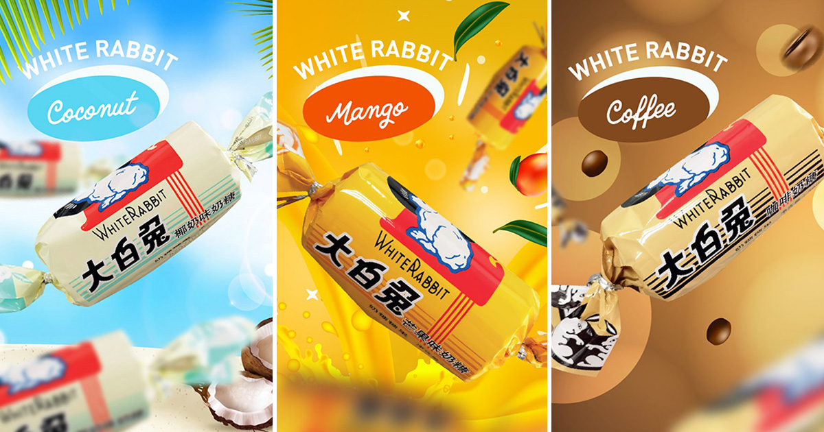 7-Eleven launches White Rabbit Candy infused with Coconut, Coffee & Mango Flavours from $1.66 per pack