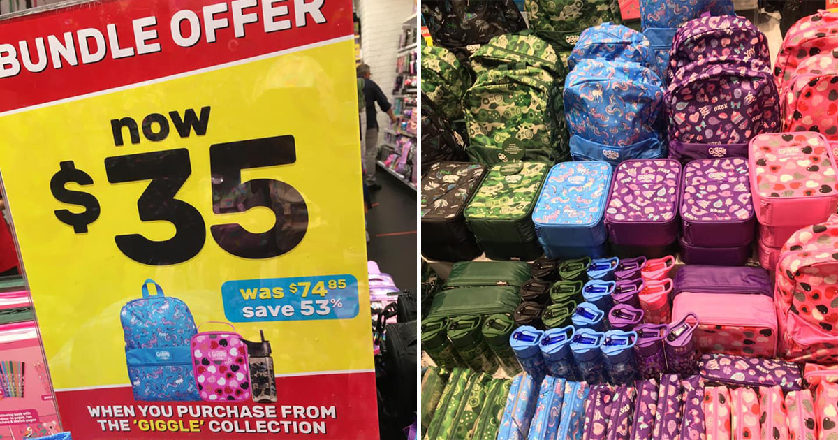 Smiggle S'pore has Bundle Offers that includes Backpack, Lunchbox, Bottle & Pencil Case from $35